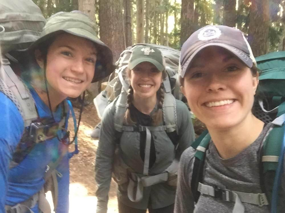 Selfie to celebrate our last hike and five days in the wilderness!