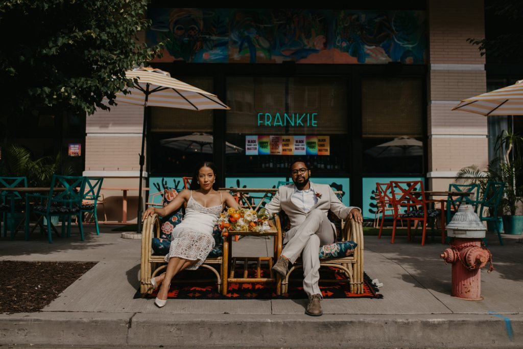 jersey city elopement impromptu wedding DIY microwedding captured by NJ wedding photographer Mile Square Moments