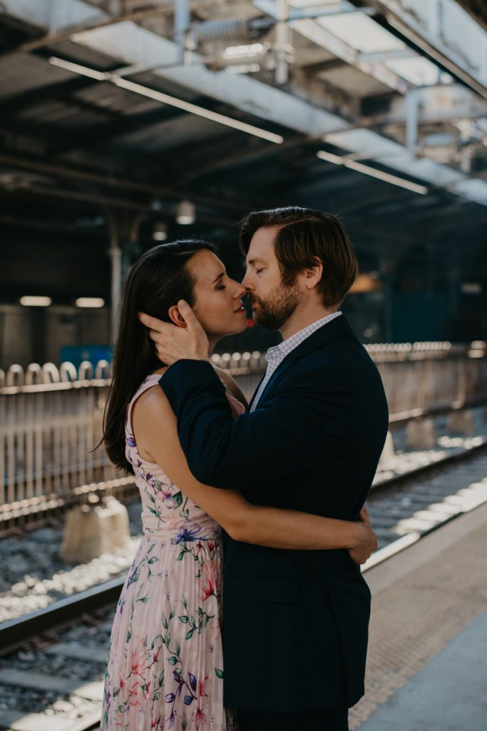 hoboken-train-terminal-engagement-session