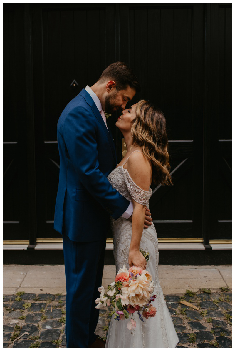 Emotional first look wedding photos by Hoboken wedding photographer Mile Square Moments