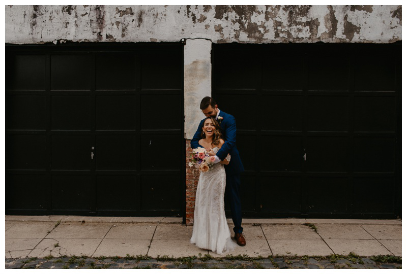 Authentic and joyful wedding photos during Hoboken microwedding in NJ captured by best Hoboken wedding photographer Mile Square Moments