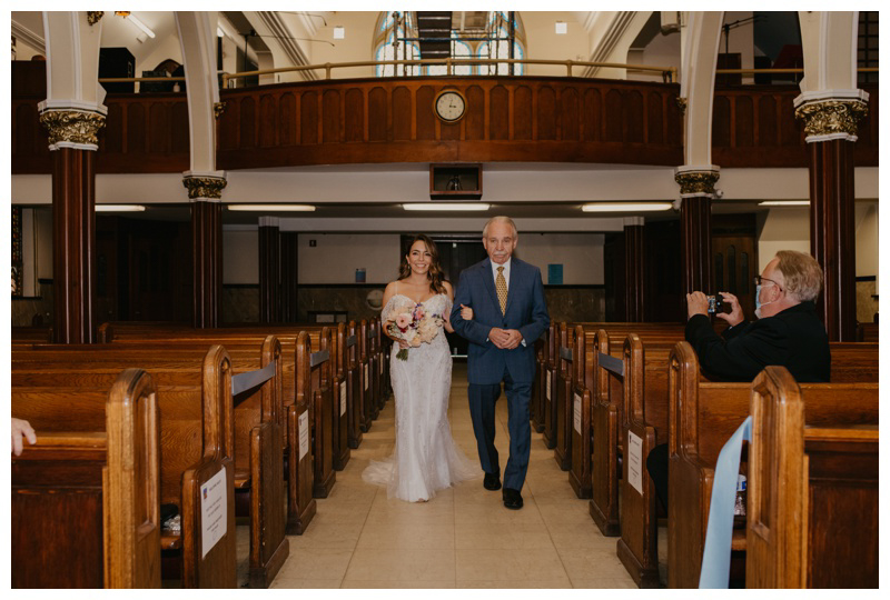 Dad walks daughter down the aisle at her NJ church wedding