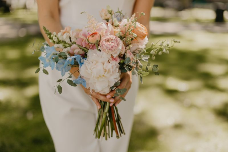 Bright Spring Floral Bouquet for New Jersey Elopement