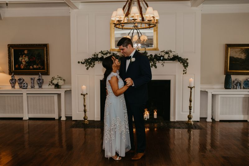First dance after the ceremony in New Jersey at Essex Fells Country Club