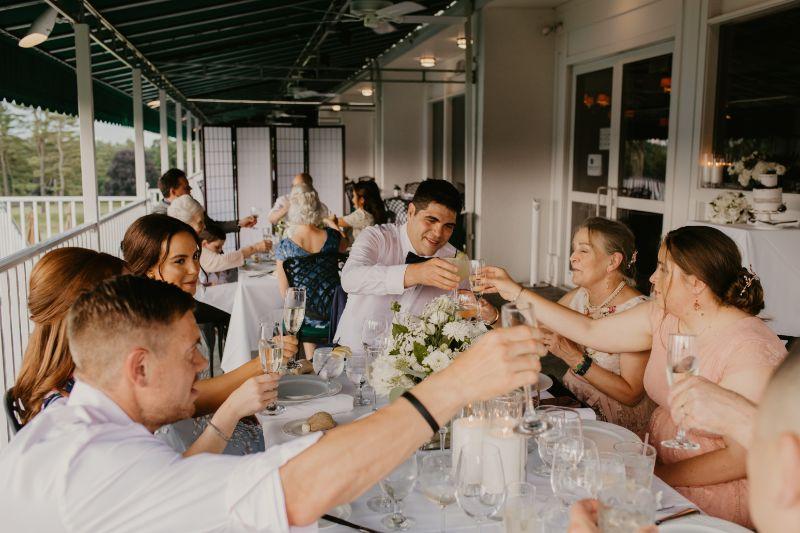 Micro wedding reception at Essex Fells Country Club Wedding Venue