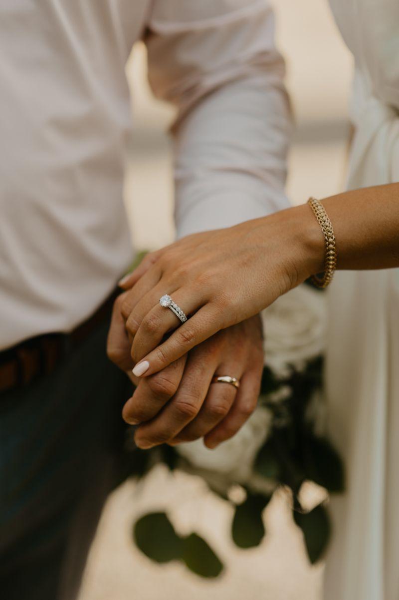 Ring photos after new jersey backyard wedding