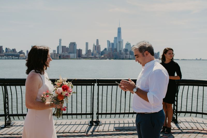 Small wedding ceremony in New Jersey