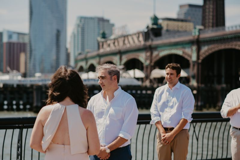 Photo of Groom with NJ water in the background