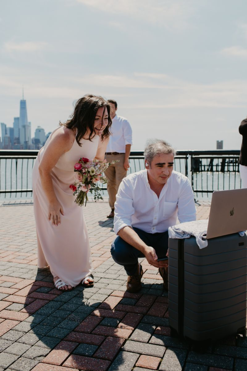 Zoom Wedding on New Jersey Waterfront