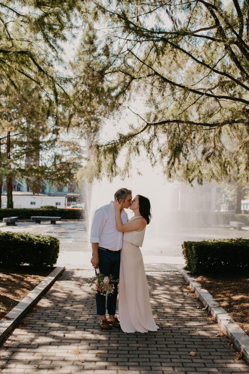 outdoor wedding photos near New Jersey shore