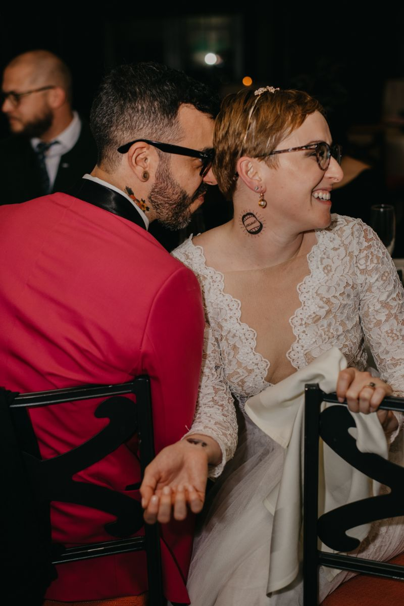Fun unique reception ideas for temporary tattoos on bride and groom
