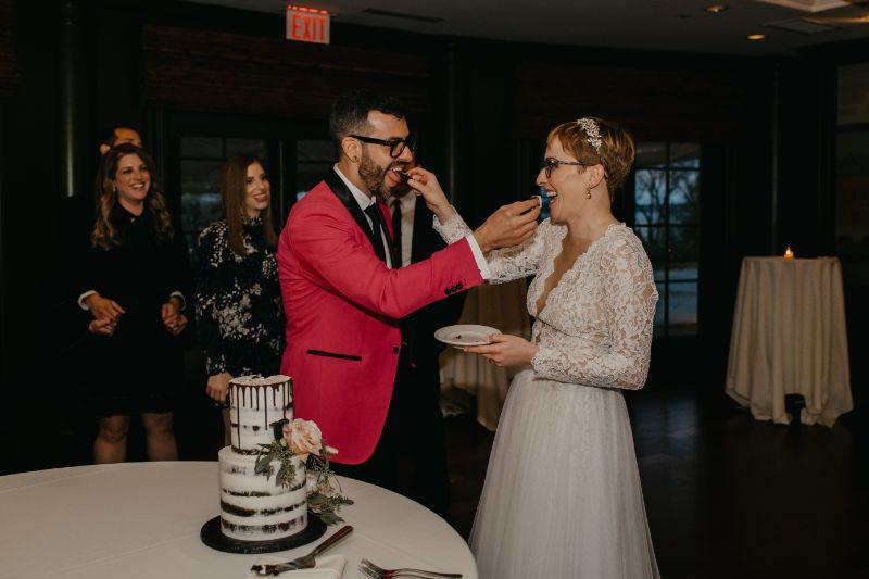 Aurora Inn Cake Cutting with Bride and Groom