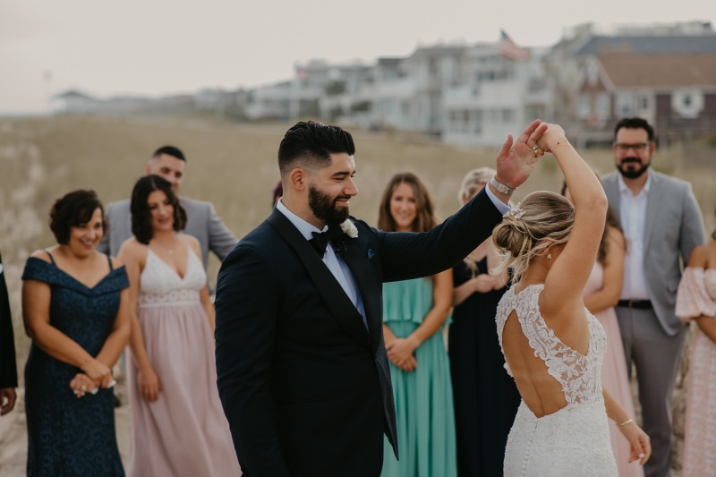 Intimate micro wedding ceremony on Long Beach Island New Jersey