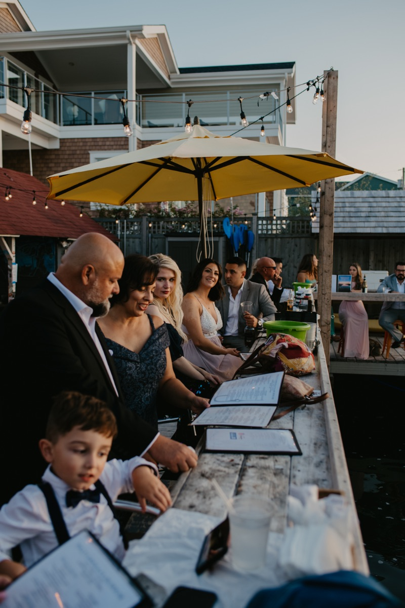 Wedding reception photos at Pollys Dock and Clamhouse in Long Beach Island New Jersey