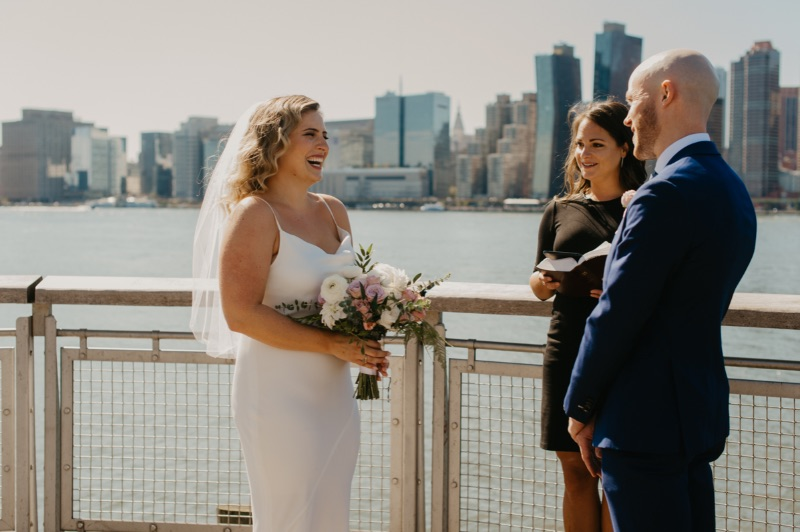 Long Island City Elopement on Waterfront in New York Wedding