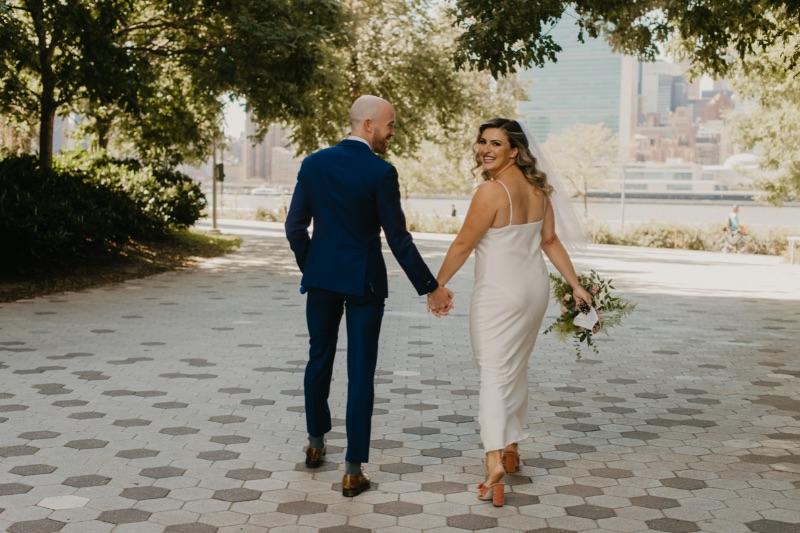 Outdoor Wedding Photos in New York Long Island City