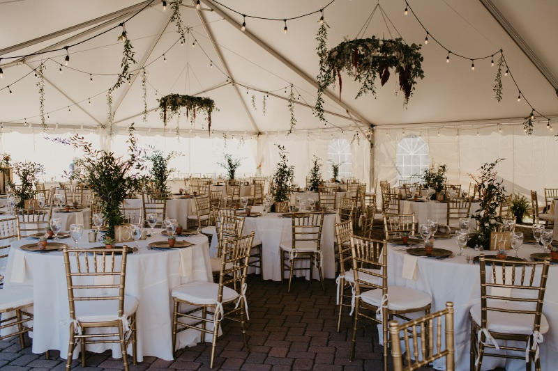 Stunning and unique floral installations and wedding reception decor at New Jersey wedding