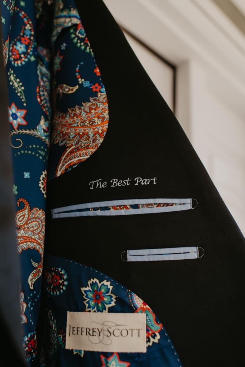 Jeffrey Scott Custom Suit for New Jersey Wedding