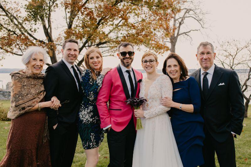 Group photo at Aurora Inn Wedding