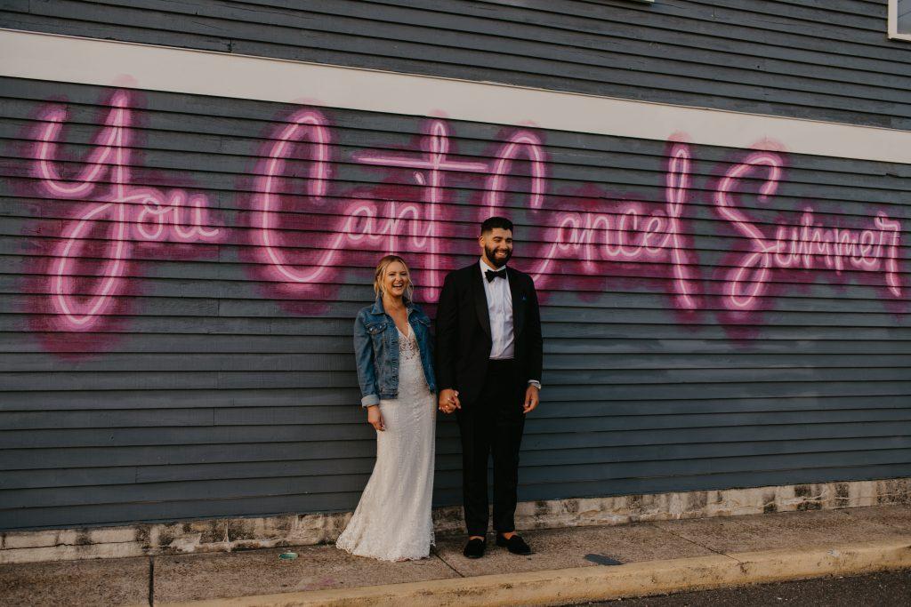 street art New Jersey wedding