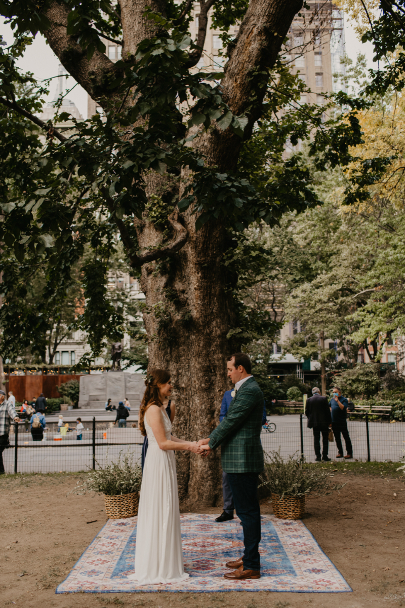 Outdoor Wedding Ceremony at Madison Square Park NYC
