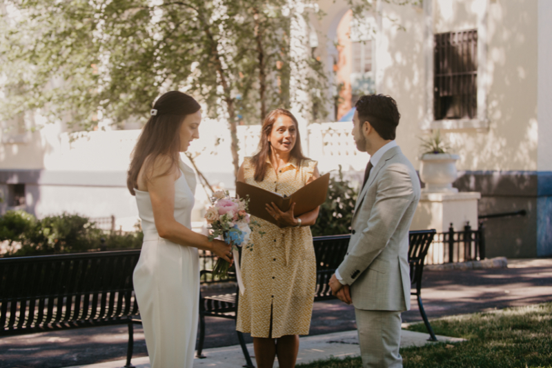Columbus square park outdoor Hoboken new jersey wedding photography