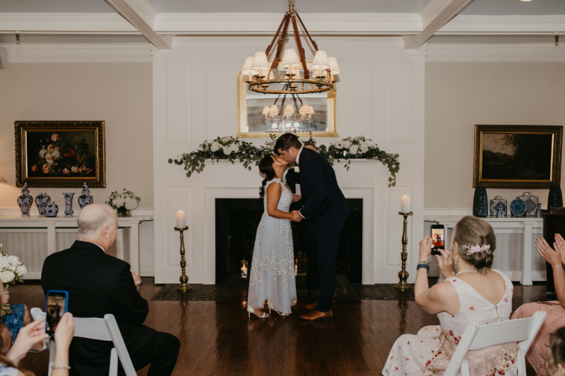new jersey wedding with candles and greenery