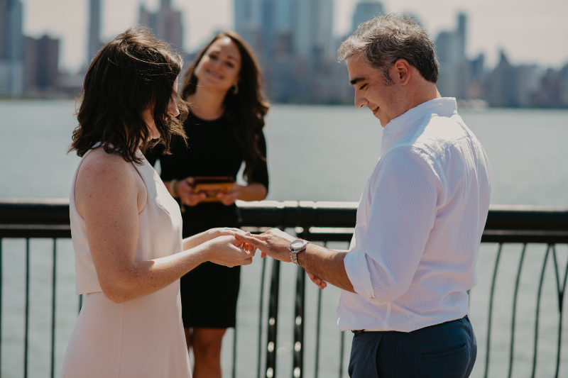 zoom wedding at Pier A Hoboken New Jersey