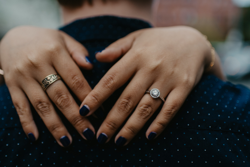 Jersey City Engagement Photos and Ring Photos