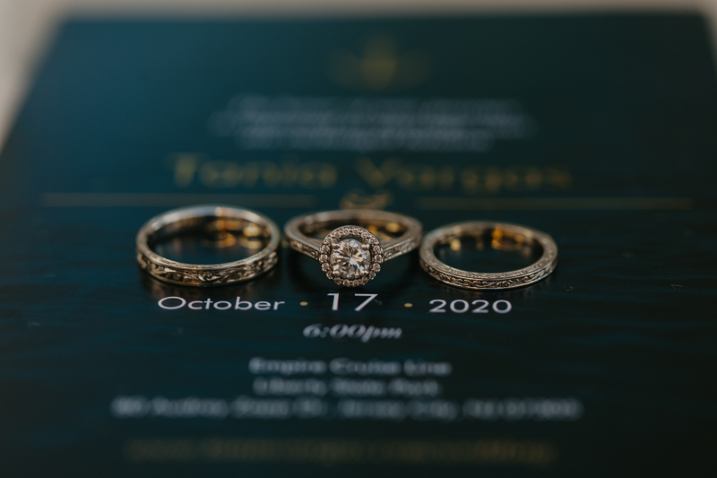 Wedding invitations and details for jersey city wedding