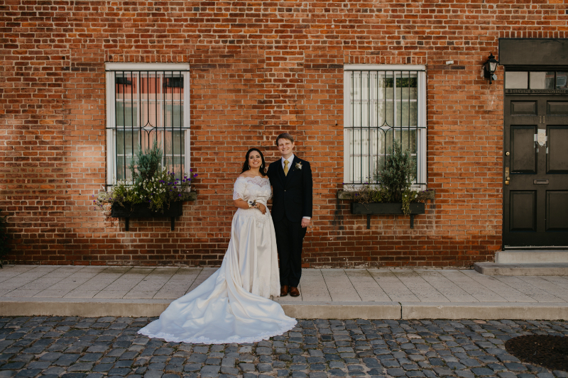 Van Vorst Park in Jersey City - First Look Bride and Groom Photos