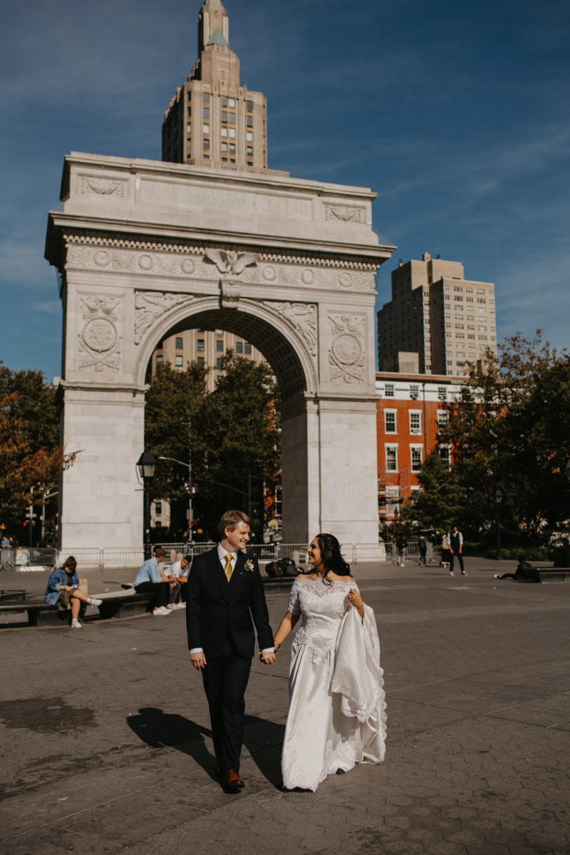 Washington Square Park - First Look Bride and Groom Photos