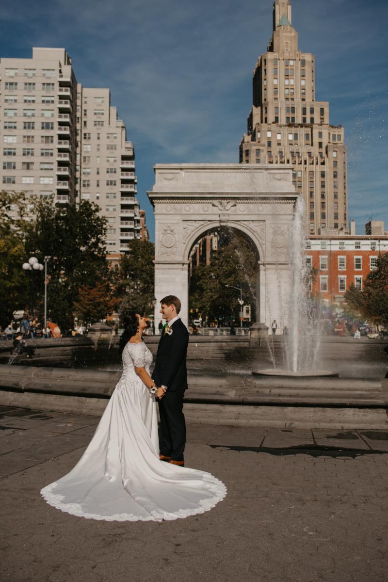 Garden Wedding in New Jersey - Public Park Wedding at Van Vorst Park