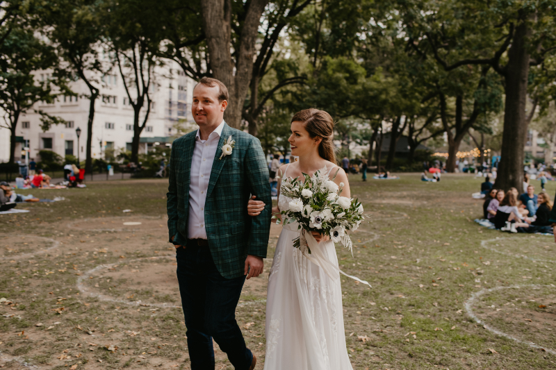 microwedding in NYC - outdoor wedding in Madison Square park