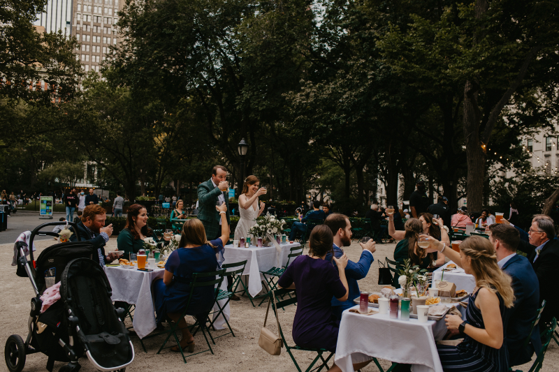 Outdoor Wedding Reception at Madison Square Park