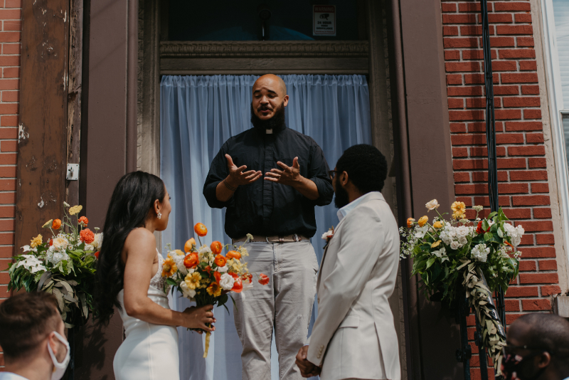 Jersey City Pier Wedding Ceremony