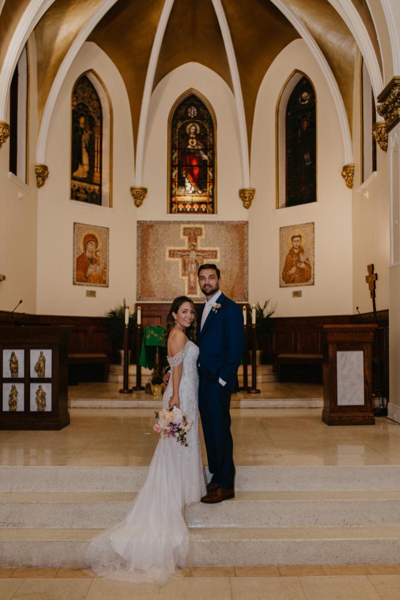 Hoboken Wedding Photography at Stunning Catholic Church