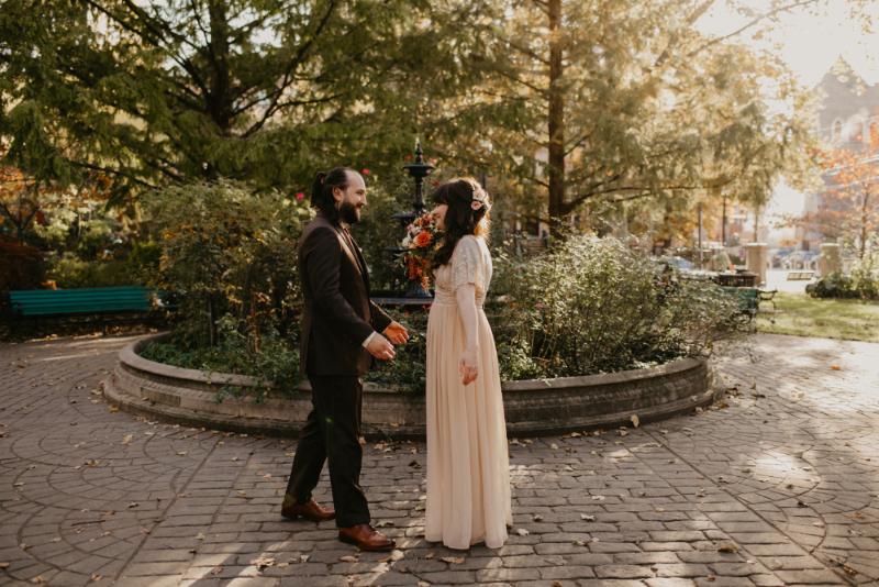First Look Wedding Photos at Van Vorst Park