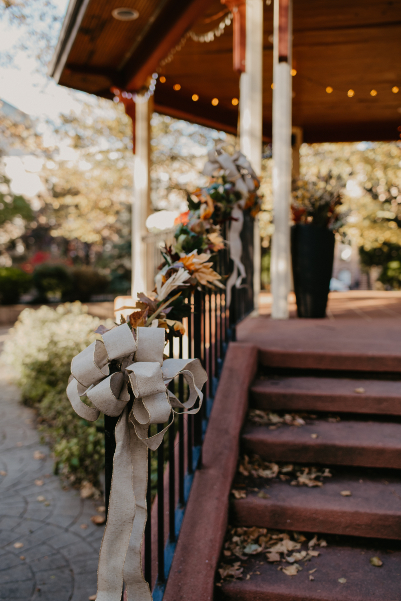 Van Vorst Park Micro Wedding Ceremony at Outdoor Gazebo