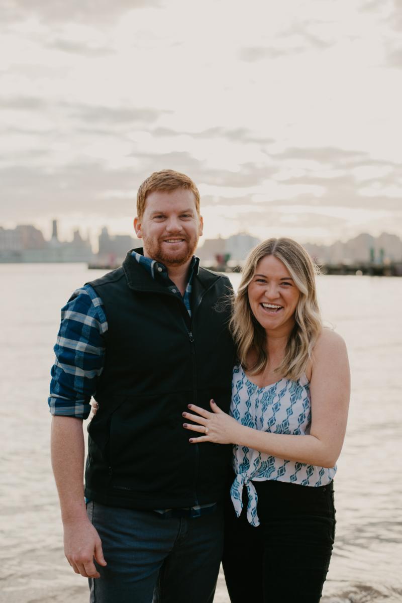 Hoboken New Jersey engagement photos