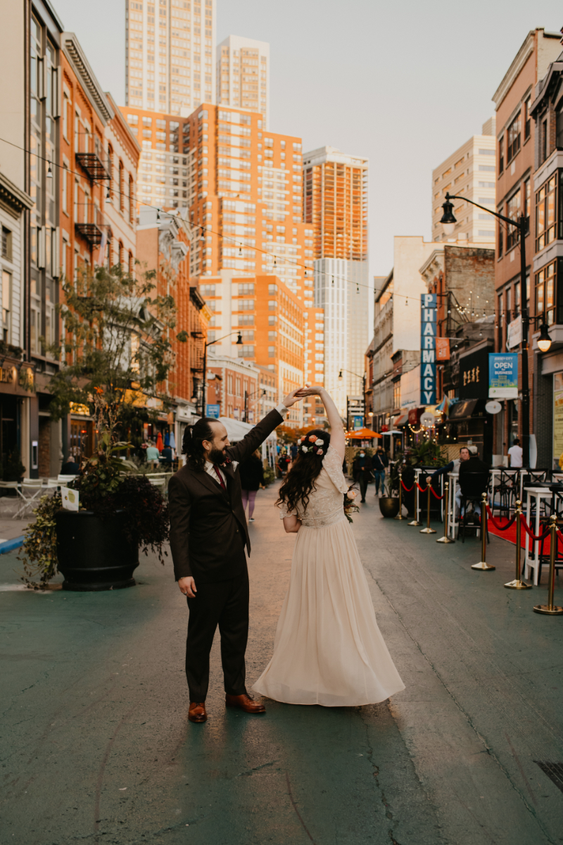 Downtown Jersey City Bride and Groom Photos
