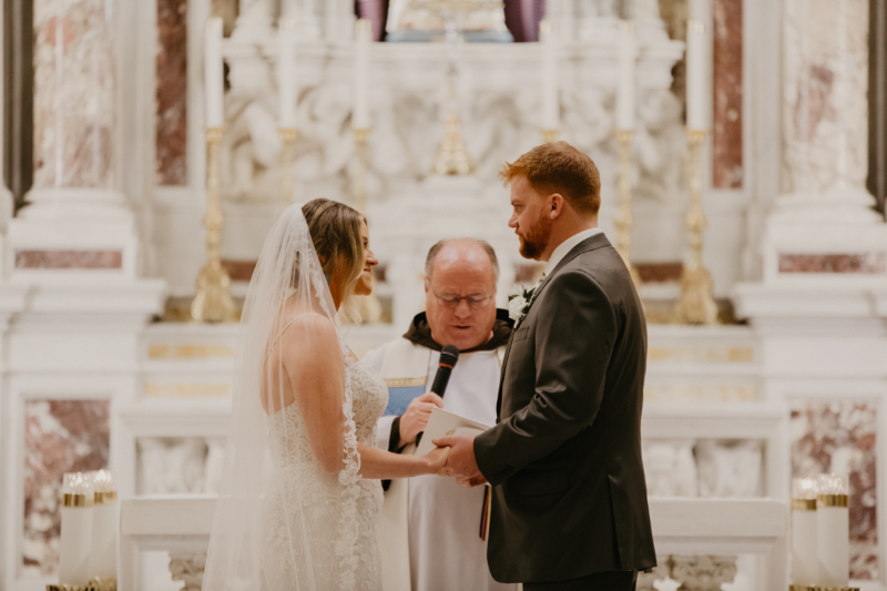 St Ann Catholic Wedding Ceremony in Hoboken New Jersey