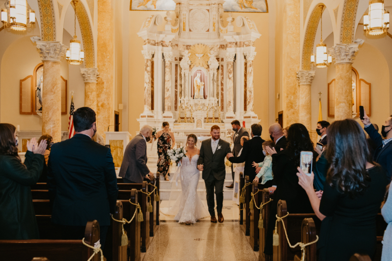 St. Ann Catholic Church Wedding Ceremony in Hoboken NJ