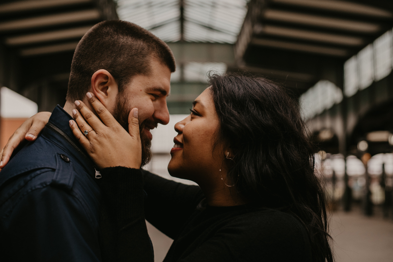 Dreamy Engagement Photos with Unique Engagement Ring