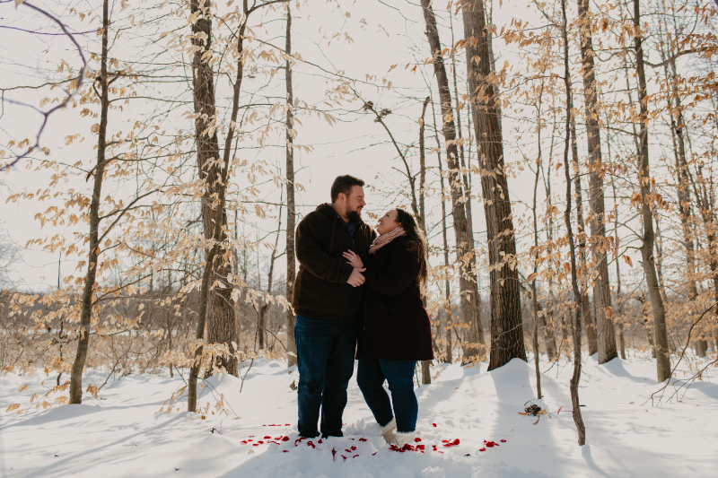 Proposal photo in winter