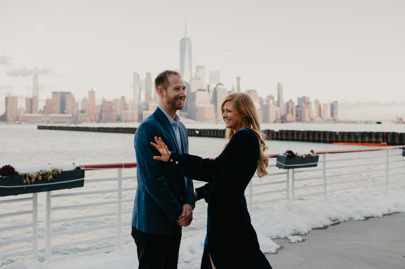 New Jersey Proposal Photo with NYC skyline in background