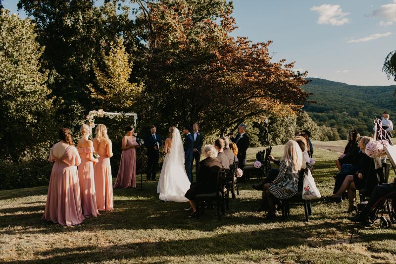 Outdoor wedding ceremony in New York
