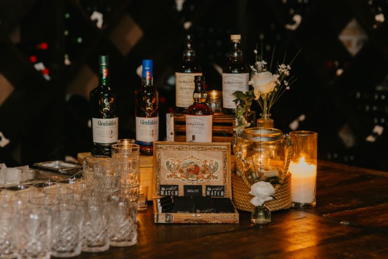 Scotch bar at a wedding