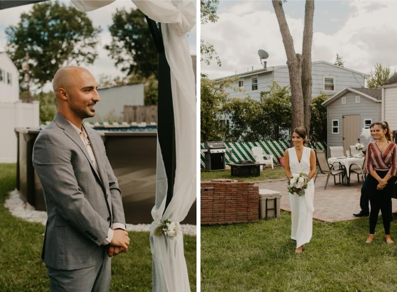 backyard wedding ceremony in new jersey