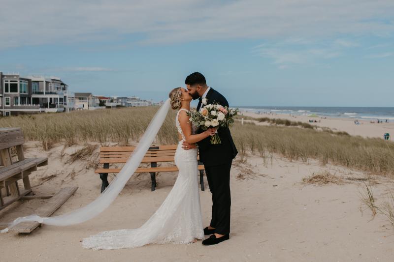 first look wedding photos in long beach island